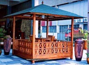 Gazebo Krawang Jati kayu Terbaru