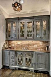 Kitchen Set With Door Glass