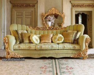 Sofa Ukiran Mewah Desain Amartawood Furniture