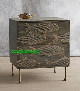 Cabinet Minimalis Desain Motif Ikan