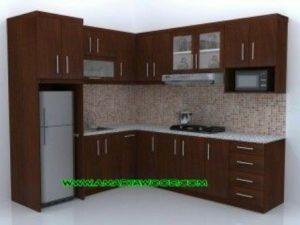 Kitchen Set Permeter Harga Murah Solid Kayu