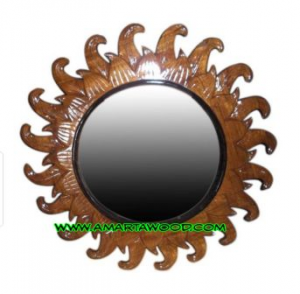Cermin Jati Desain Roda Murah
