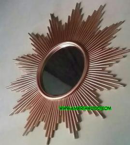 cermin kayu jati matahari murah