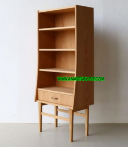 rak kayu jati minimalis terbaru