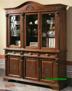 Cabinet Tv Kayu Jati Bagus Mewah