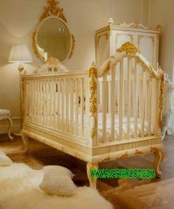 Ayunan Bayi Jati Laris Terbaru Mewah