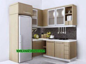 Kitchen Set Permeter Murah Kayu Jati Jepara Baru