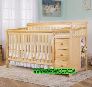 Tempat Tidur Bayi Kayu Jati Baru