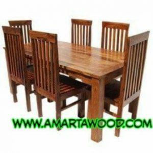 meja makan minimalis kayu jati persegi panjang