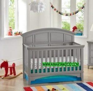 Tempat Tidur Anak Kayu Jati Desain Baru