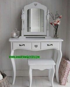 Meja Rias Cinta Cantik Putih Murah