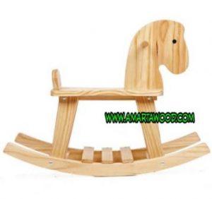mainan kuda kayu