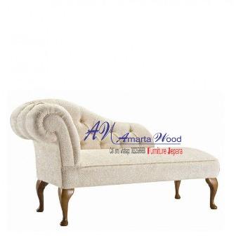 Sofa Panjang Kayu Jati Putih Terbaru Mewah