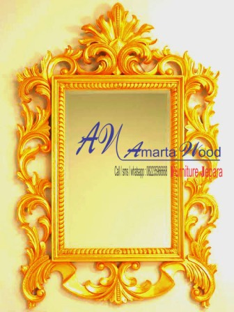 Cermin Dinding Ukiran Mewah Murah