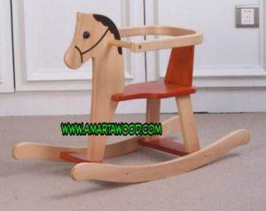Mainan Anak Kayu Kuda kuda Kayu Jati
