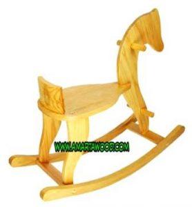 Mainan Anak Kuda Kayu Jati