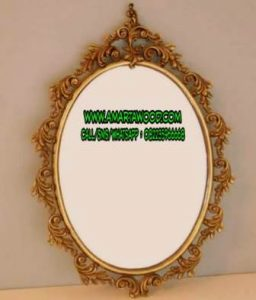 Cermin Ukiran Kayu Jati Disain Baru