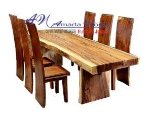 Meja Makan Antique Solid Wood