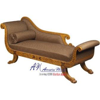 Sofa Emas Kayu Jati Terbaru Kombinasi Lukis