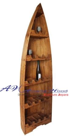 Rak Minimalis Jati Perahu Kayu