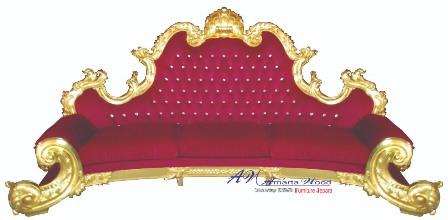 Sofa Mewah Ukir Jok Merah Istimewa