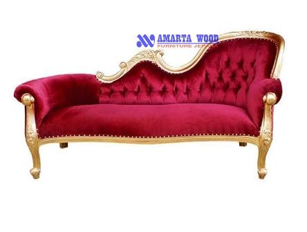 Sofa Mewah Minimalis Ukir Emas