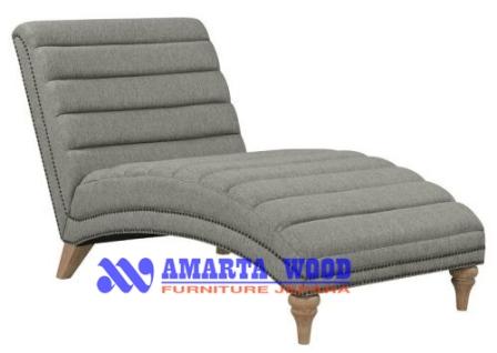 Sofa Kursi Malas Kayu Jati Jok Putih Lembut