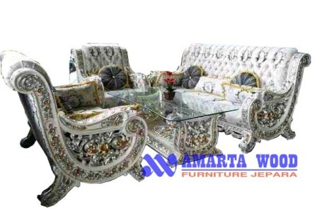 Sofa Ukiran Set Ruang Tamu Mewah