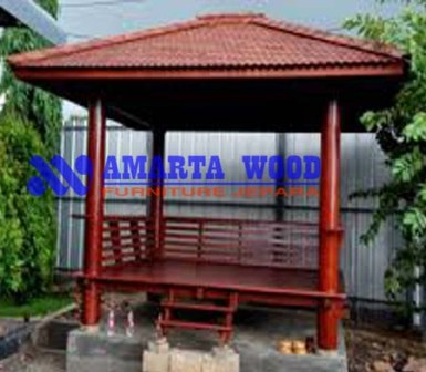 Rumah Gazebo Kayu Jati Murah Terbaru