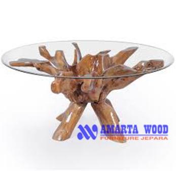Coffee Table Desain Meja Kopi Akar Jati