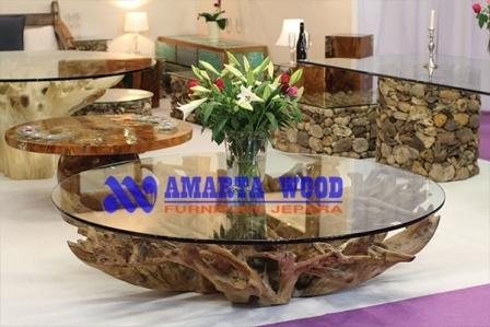 Roots Furniture Meja Akar Jati Minimalis