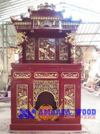 Altar Peribadatan Ukir Kayu Murah Terbaru