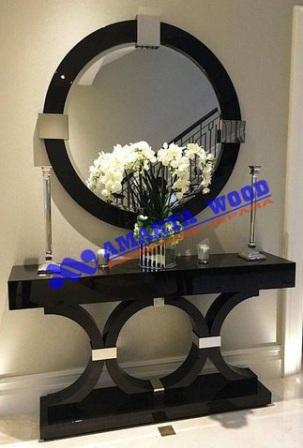 Console Meja Rias Minimalis Kayu Set Cermin