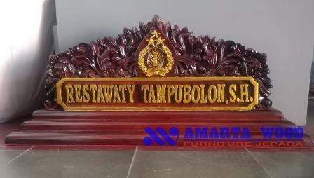 Nama Logo Gantung Kayu Jati Ukir