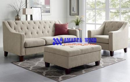 Sofa Kursi Minimalis Jok Lembut Kayu Jati