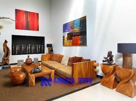 Sofa Kursi Jati Solid Jati Minimalis