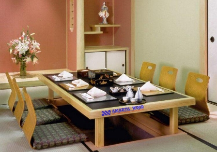 Meja Kursi Makan Duduk Lesehan Cina Jati